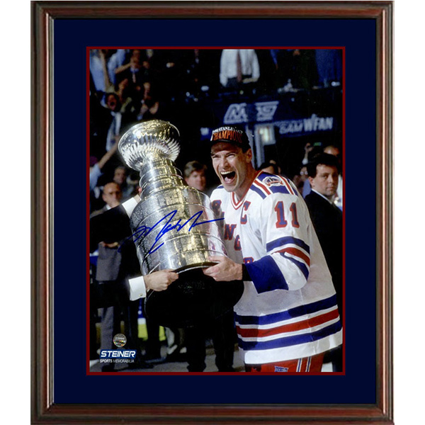 Mark Messier (New York Rangers Stanley Cup) Autographed Framed Display